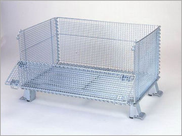 "China Super Wide Collapsible Wire Container Storage Cages 60""X44""X40"" 3000 Pounds Capacity factory"