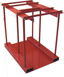 China 800 Lbs Capacity Gas Cylinder Caddy With Hinged Divider Bar / Steel Ramp factory