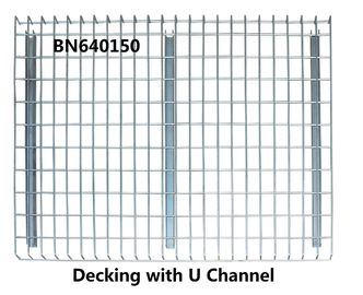 High Visible Teardrop Pallet Rack Wire Decking 3 Channels Pallet Racking Accessories