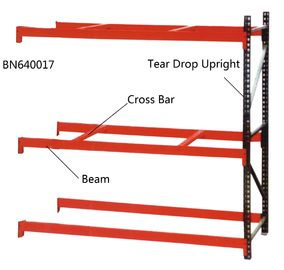 China Step Beam Style Teardrop Pallet Rack Shelving 2000 Lbs – 7000 Lbs Capacities factory