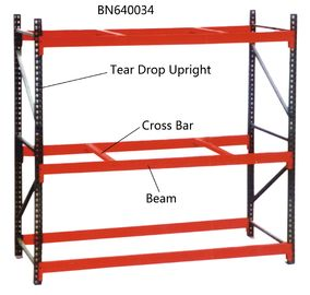 China 10' Tall Teardrop Pallet Rack System Full Welded Upright Frame And Step Beam factory