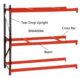 China BN640034 Industrial Pallet Racks Heavy Duty Warehouse Shelving 2 Inch Adjustable Beam factory
