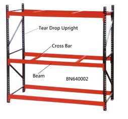 China 96 X 36 Inch Warehouse Pallet Shelving , 14 Gauge Industrial Steel Storage Racks factory