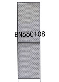 China 8' High X 1' Wide Steel Mesh Partitioning Woven Wire Mesh Panels Gray Color Finished factory