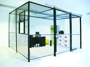 China Heavy Duty Two Sides Industrial Storage Cage , Wire Mesh Storage Lockers Full Height factory