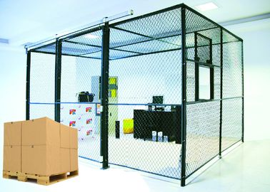 Predesigned 2 Sides Wire Mesh Storage Cages , Tool Security Cages For Storage