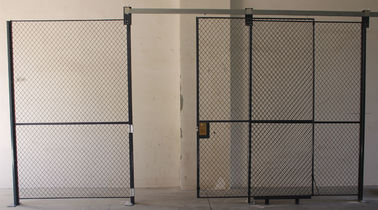 China Full Height  Wire Mesh Partition Panels Metal Mesh Security Door For Inventory System factory