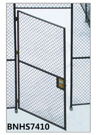 China Grey Color Wire Mesh Partition Panels Single Hinged Security Cage Door Antirust factory