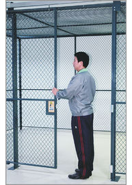 Commercial Wire Mesh Partition Panels Full Height Wire Cage Door 230 Lbs Weight