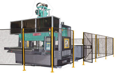 Powder Coated Wire Mesh Machine Guarding With 1 ½ X 1 ½ Inch Wire Mesh Grid