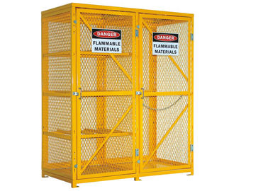 China 6 Feet Two Door Outdoor Propane Storage Cage , Gas Cylinder Storage Box Anticorrosive factory