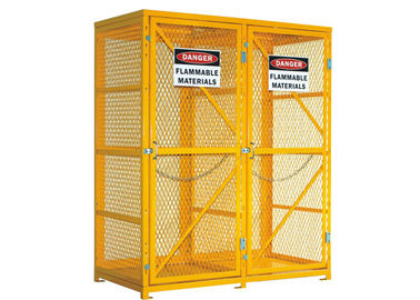 "China 72"" Mesh Lpg Cylinder Storage Cabinet 65"" Tall Safety Cages For Gas Bottles factory"