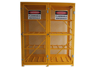 China 8 Shelves Compressed Gas Cylinder Storage Cabinets With 2 Warning Label 72 Inch factory