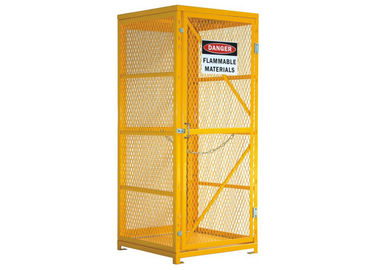 China Security Fall Prevent Gas Bottle Storage Box , Lockable Gas Bottle Safety Cages factory