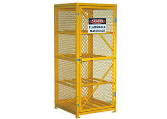 "China Extra 72"" Lockable Gas Bottle Storage Cabinet , Propane Tank Storage Cage 4 Shelves factory"