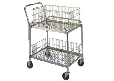 "China 33""L X 20""W X 37-1/2"" Rolling Mail Cart 200 Lb Load Capacity Removable Baskets factory"