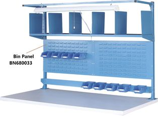 "China Bin Panel Industrial Work Benches Hold Plastic Bins 60"" P/C Finish factory"