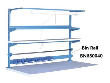 China Blue Adjustable Heavy Duty Work Table Organizer For Bins Bolts And Nuts Connect factory