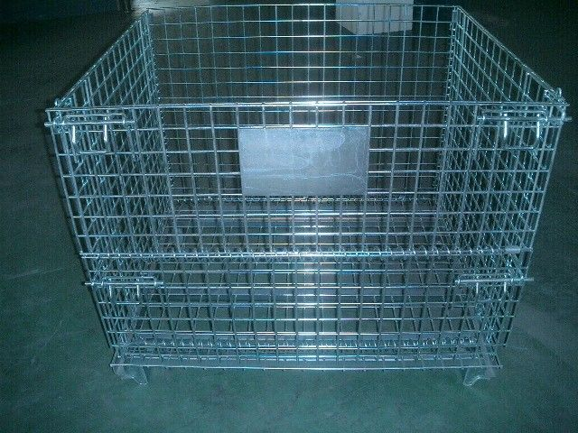 2000 Pounds Collapsible Wire Container Steel Mesh Storage Bins 40x 32x 33 Inch supplier