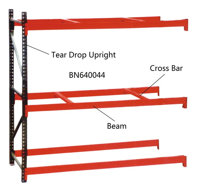 BN640034 Industrial Pallet Racks Heavy Duty Warehouse Shelving 2 Inch Adjustable Beam supplier