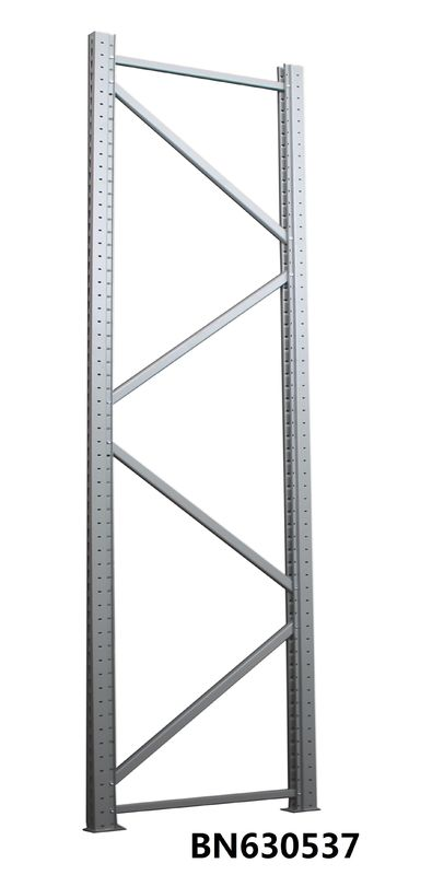 Commercial Heavy Duty Steel Storage Racks Bolt Connect Upright Frame 4 * 10 Feet supplier