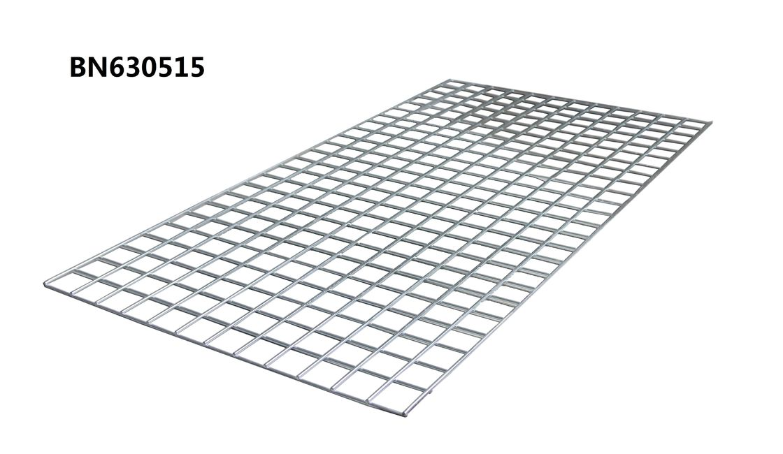 Galvanized 4 Ga Steel Wire Mesh Decking For Pallet Racking 60 X 36 Inch Silver Color supplier