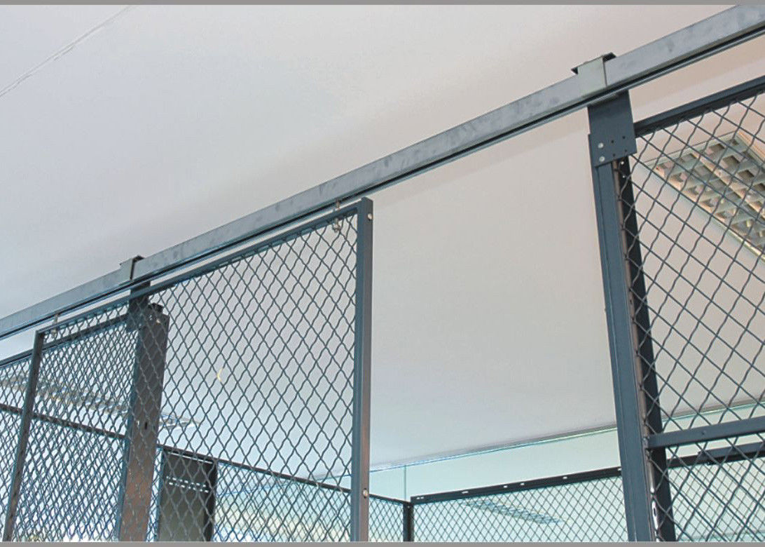 2 Sides Wire Mesh Security Partitions 10 Feet Width 10 Feet Depth 8 ...