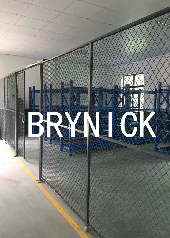 High Ventilated  Wire Mesh Security Rooms , Indoor Security Cage Storage Locker supplier