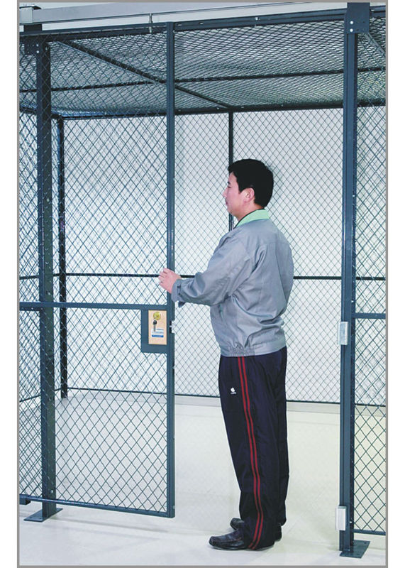 Commercial Wire Mesh Partition Panels Full Height Wire Cage Door 230 Lbs Weight supplier