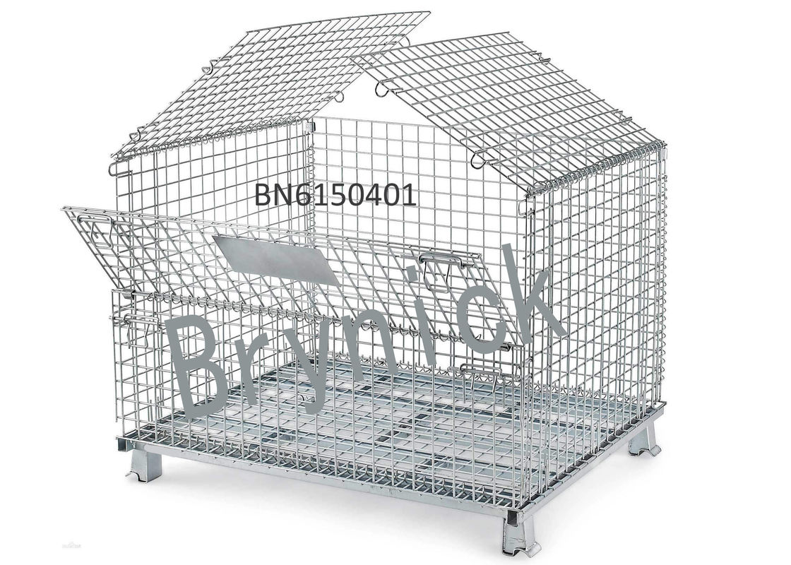 BN6150107 Industrial Wire Containers , Folding Wire Mesh Container 32 X 24 Inch supplier