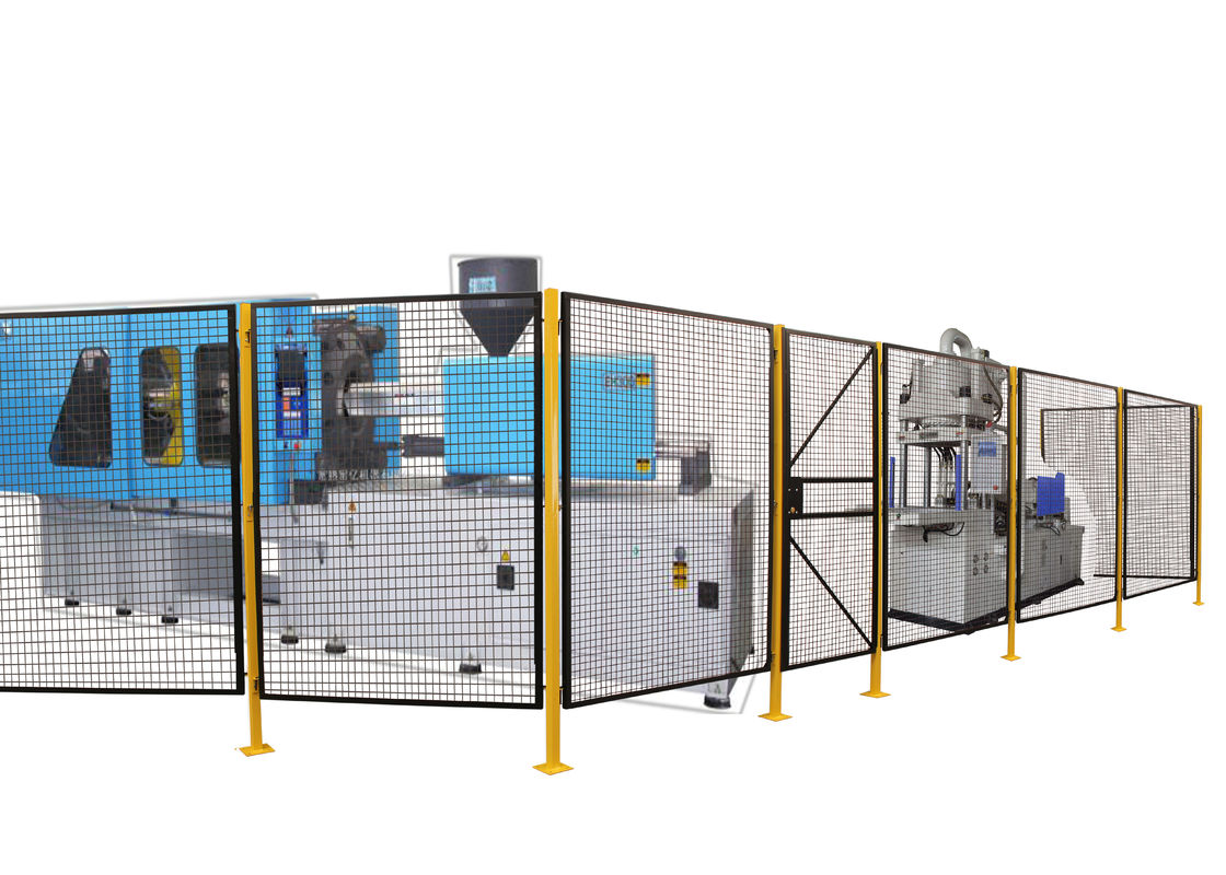 Steel Full Welded Wire Mesh Machine Guarding Wire Mesh Hinged Door 7 Feet Height supplier