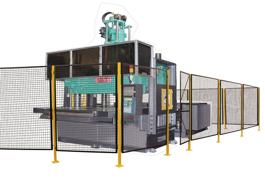 Working Site Robot Safety Fence , Heavy Duty Steel Wire Guard Enclosures supplier