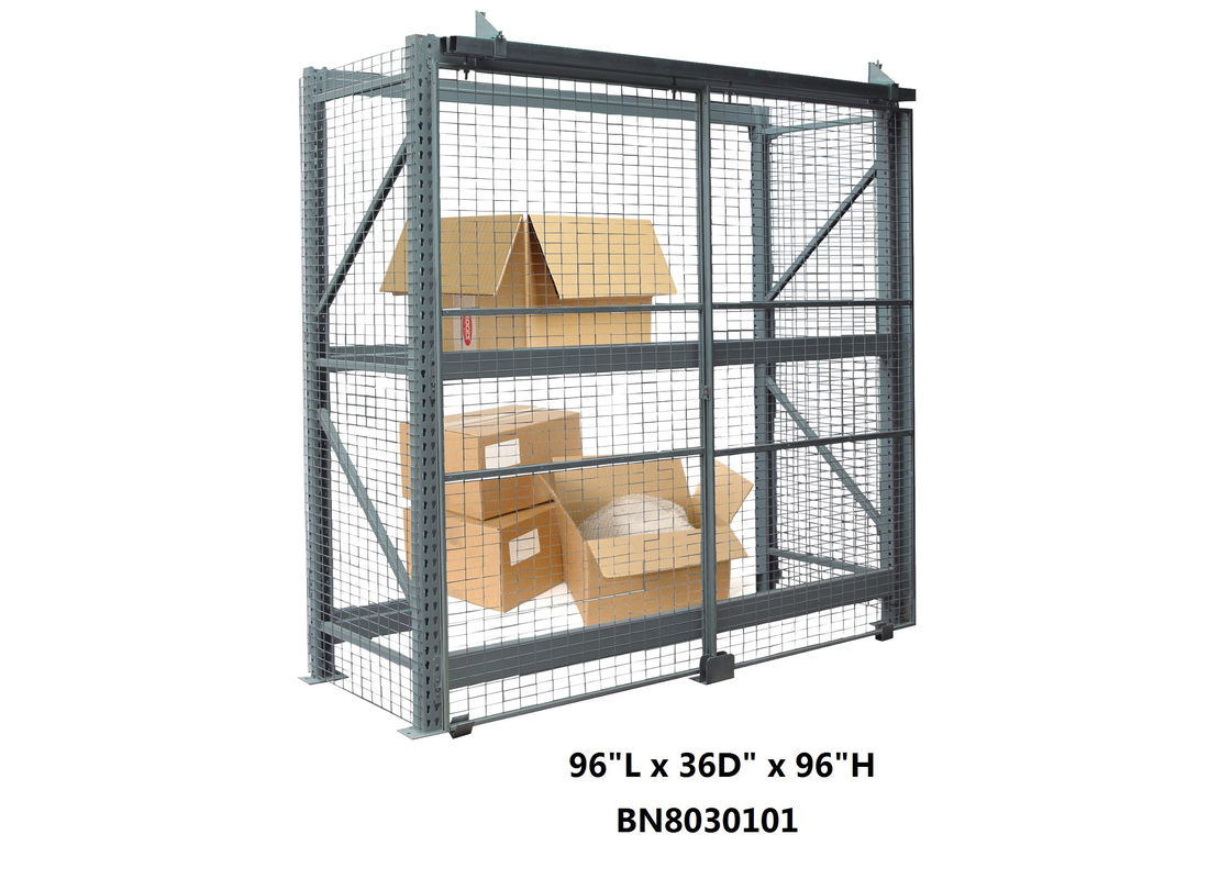 Durable Welded Wire Pallet Rack Security Enclosure Kits 96 *36 *96 Inch supplier