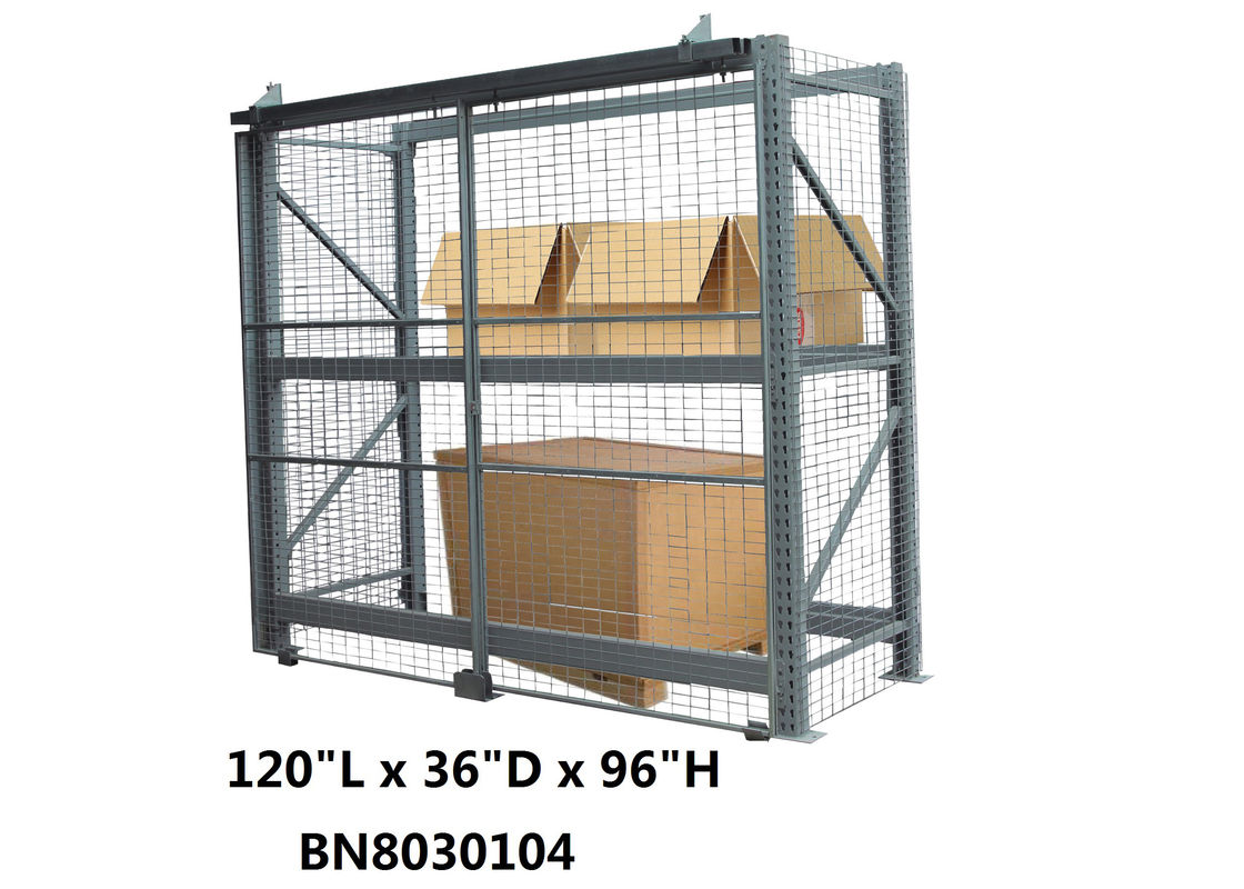 "Safeguard Products Pallet Rack Security Enclosure 120"" Long 36"" Deep Powder Coated supplier"