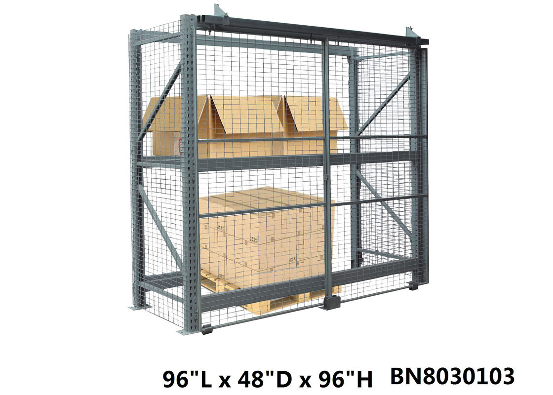 Inventory Secure Industrial Storage Cage , Lockable Pallet Cages 48 Inch Depth supplier