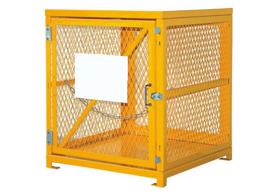 Vertical 4 Propane Cylinder Storage Cabinets With Security Chain / Single Magnetic Door supplier