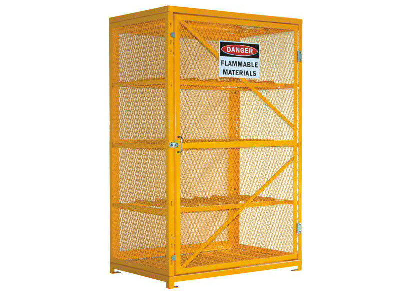 46u201d Wide 12 Cylinder Storage Cabinet Propane Tank Cage Steel Top And Bottom