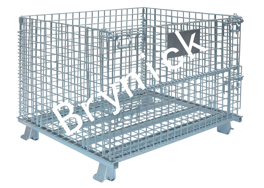 2 X 2 Wire Mesh Storage Boxes , Wire Folding Bulk Containers 4000 ...