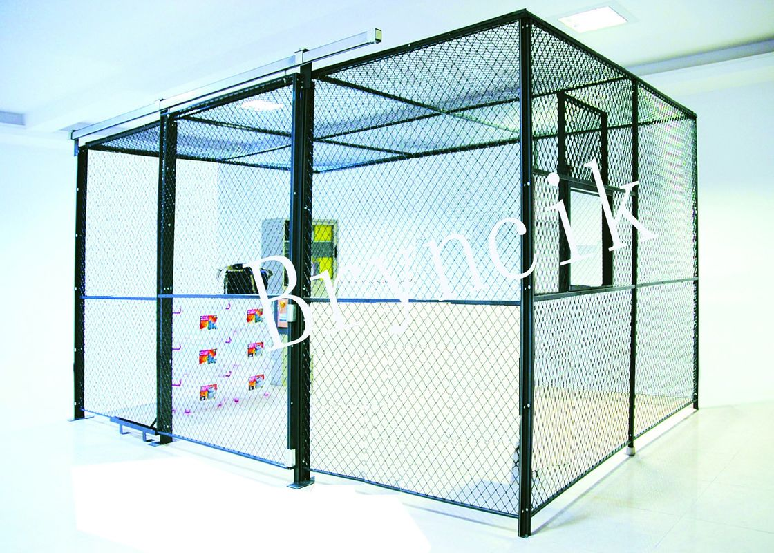 4 Sides Wire Mesh Security Partitions Data Protect Security With Roof supplier