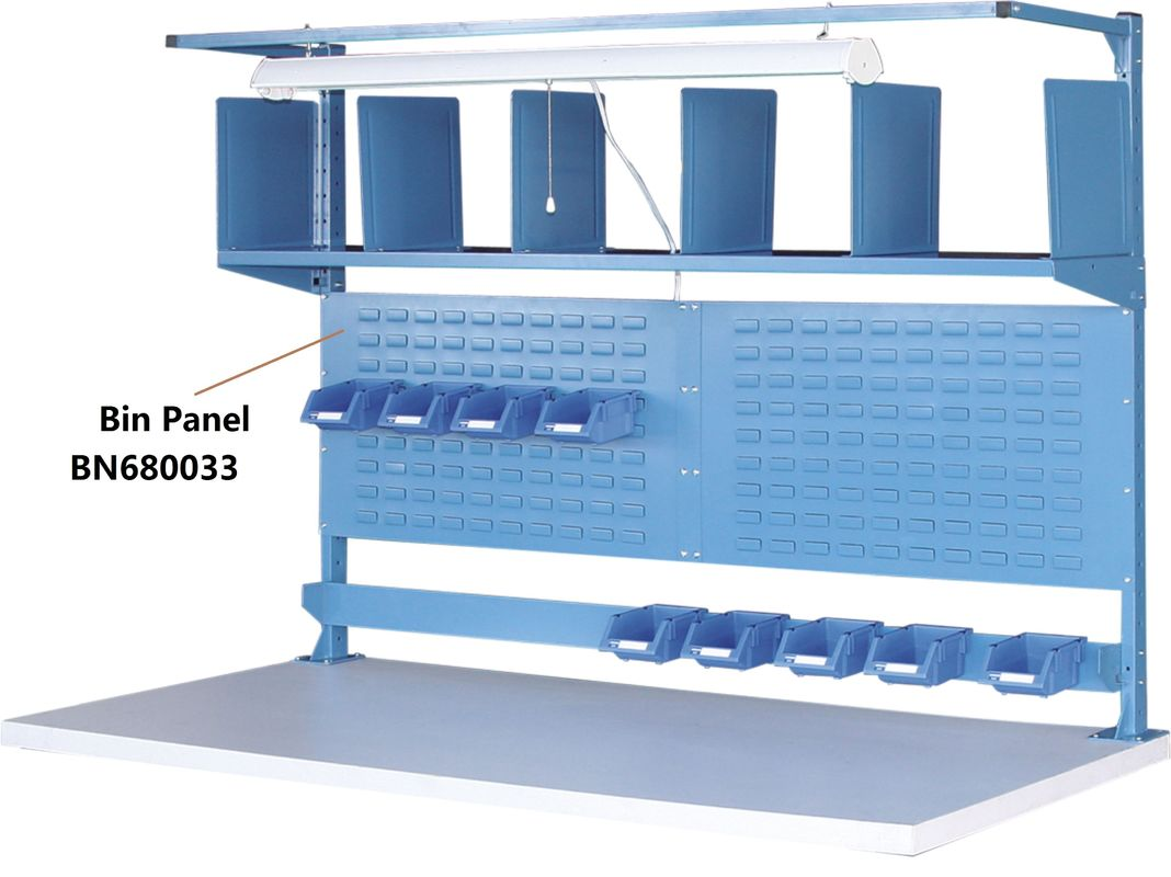 "Bin Panel Industrial Work Benches Hold Plastic Bins 60"" P/C Finish supplier"