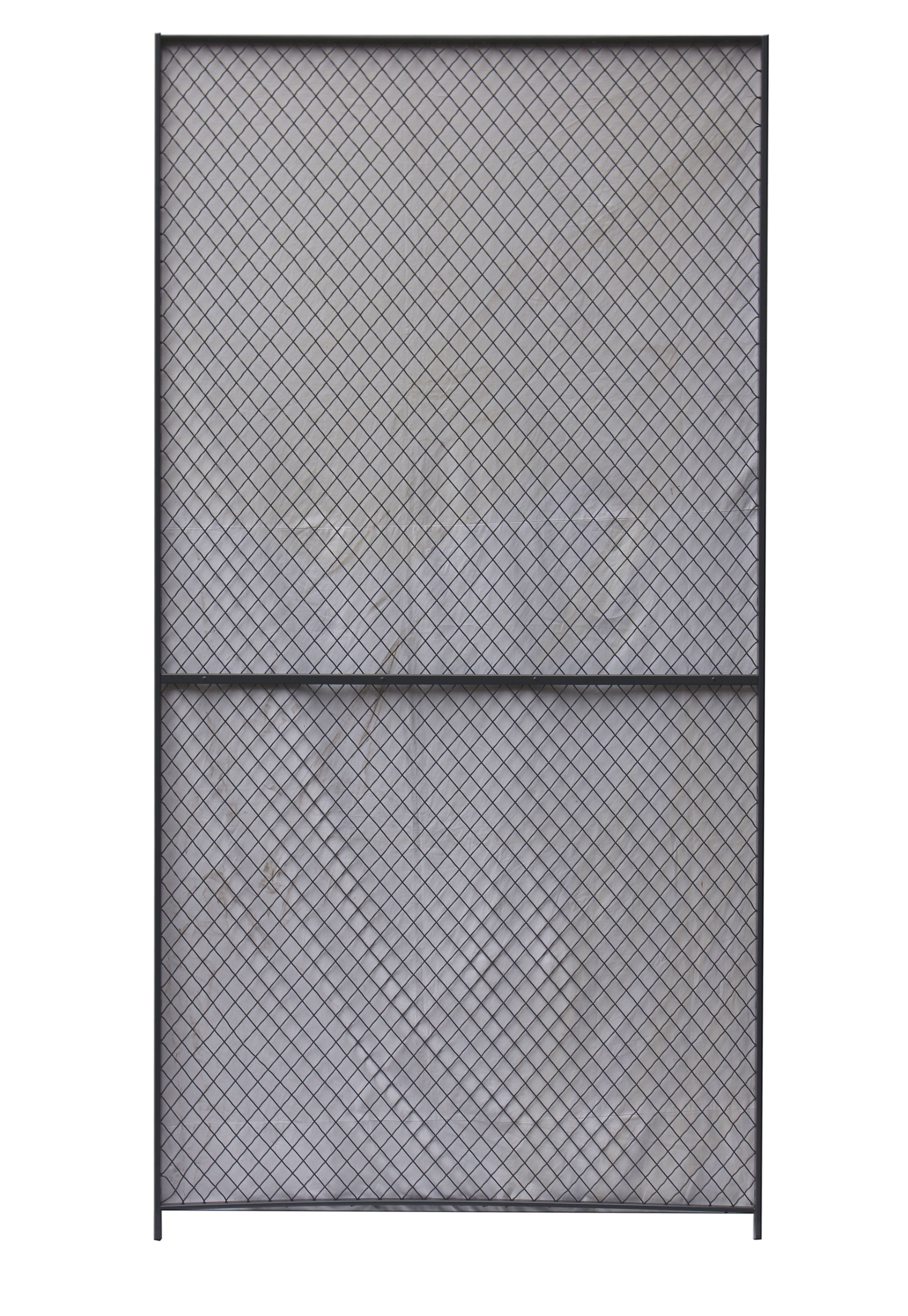 Security Woven Wire Mesh Partition Panels 10 Gauge Clinched 8 Feet ...