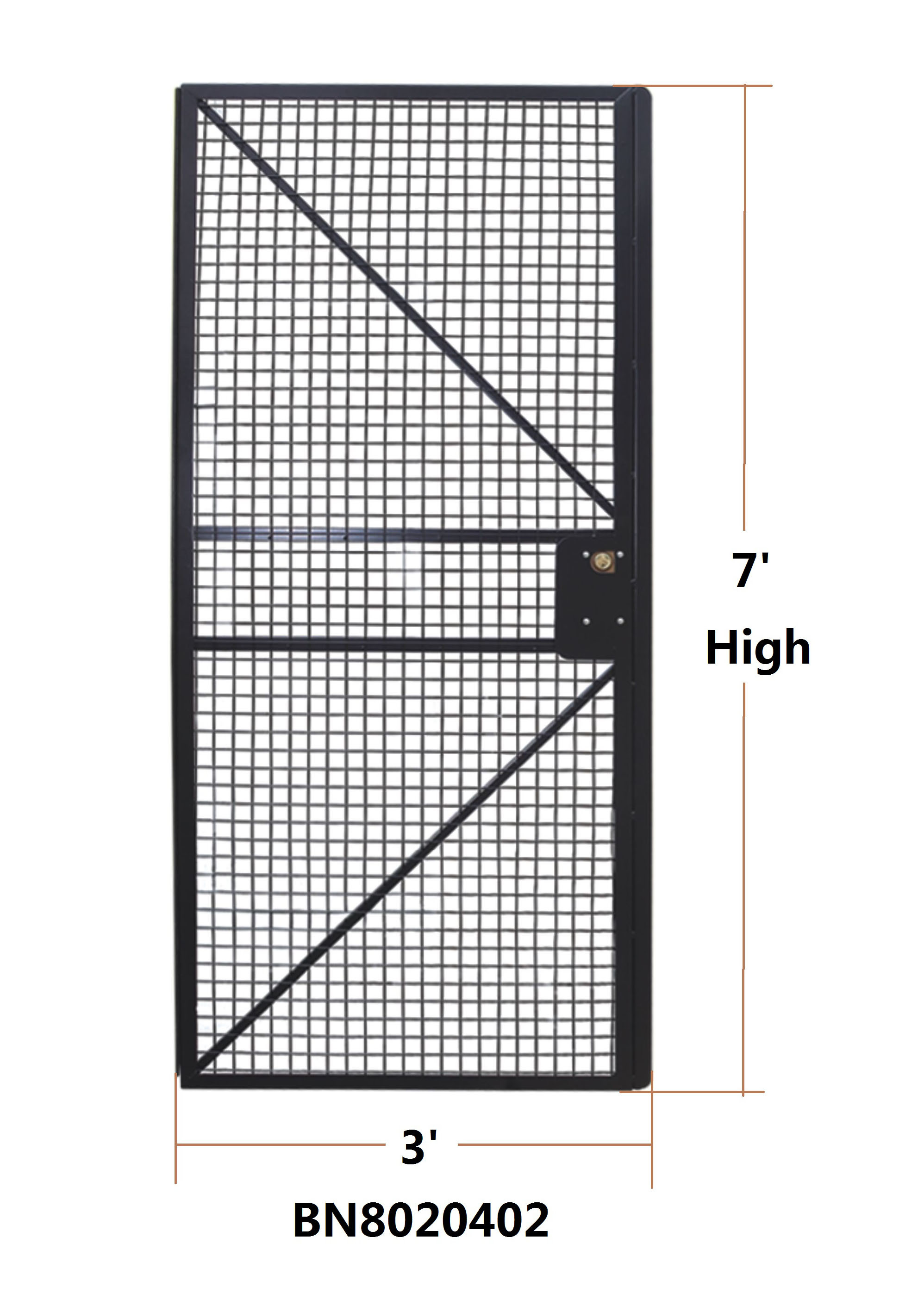 Powder Coated Wire Mesh Machine Guarding With 1 ½ X 1 ½ Inch Wire ...