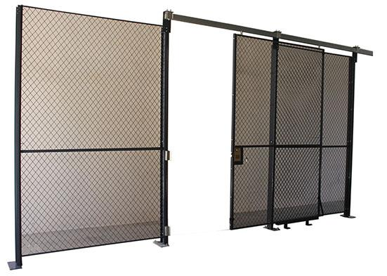 2 Sides Wire Mesh Security Partitions 10 Feet Width 10 Feet Depth 8 Feet High