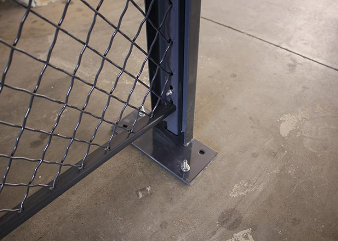 10 GA Steel Wire Mesh Security Partitions 3 Sided 20*10' *8' Without Roof