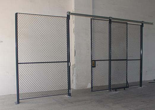 Independent 4 Sides Wire Mesh Security Partitions For Warehouse 20' *15' *8'
