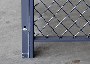 Access Control 3 Sides Wire Mesh Security Cage , Warehouse Security Cage  20* 10 *10