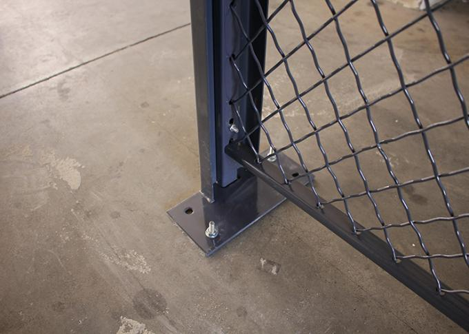 2 Sides Wire Mesh Security Partitions Lockable Storage Cages Powder Coated
